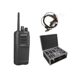 Kenwood TK-3701DE – Set van 6 met recherche headsets en aluminium draagkoffer