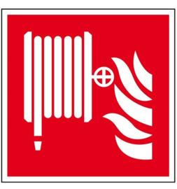 Pictogram haspel met vlam
