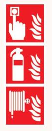 Meldknop/Blusser/Brandslang met vlam
