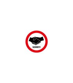 Handen schudden verboden vinyl 200mm