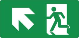 Pictogram nooduitgang trap op links