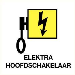 Elektra hoofdschakelaar 120x120mm sticker