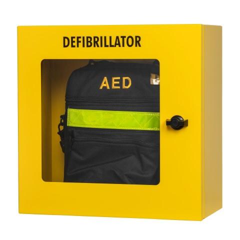 Defibtech AED Wandkast Geel met alarm