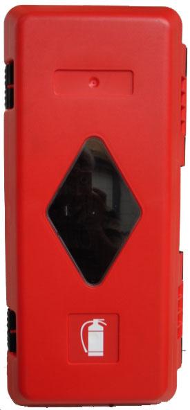 Beschermkast brandblusser 310x675x250 mm