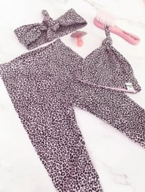 New born set - leopard roze