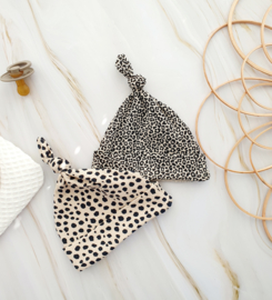 Newborn 2 pack mutsjes - leopard