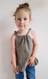 Summer top - leopard zand