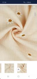 Hydrofiel - Zalm roze embroidery