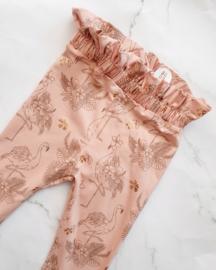 Paperbag legging - flamingo