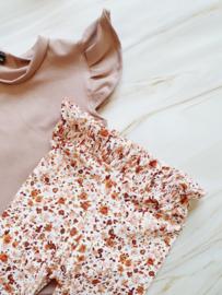 Paperbag legging - roze flower