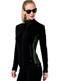 Dames sport jacket MDC Softex - kleur Zwart/Olijf