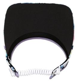 "Dames zonneklep / visor ""Glove It""– design Pastel Lattice"
