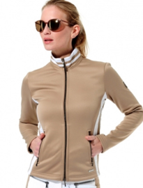 "Damen Golf Softshell Jacke ""MDC SPORTSWEAR""-  Chestnut/White"