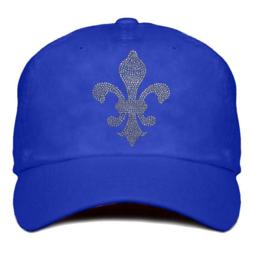 """Damen Cap """"Titania"""" Blau - design Lilie (Rhinestones)"""