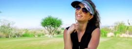 "Dames golfhandschoen ""Glove It""- design B /W  Rose"