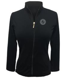 "Dames sport jacket ""Titania"" zwart – design Swarovski logo LLsport"""