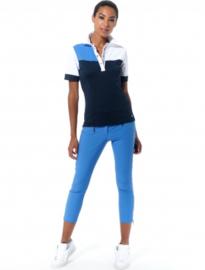 Dames golfbroek stretch met ritsen MDC - Lengte 7/8 - Kobalt blauw