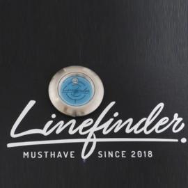 Linefinder - Edelstahl mit Hellblau