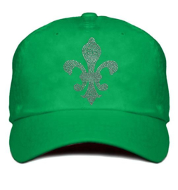 """Dames cap """"Titania"""" groen - design lelie van Rhinestones kristallen"""