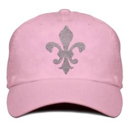 "Damen Cap ""Titania"" Hell Rosa - design Lilie (Rhinestones)"