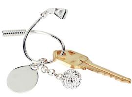 Schlüsselanhänger mit Golfball und Club