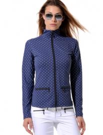 Dames sport jacket MDC Meryl Print - kleur Navy Blauw/Wit