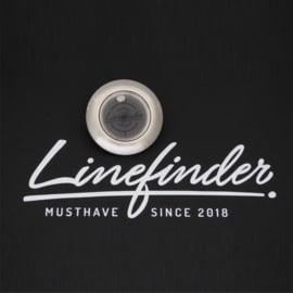 Linefinder - edelstaal met zwart