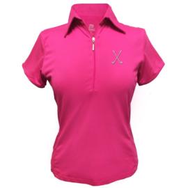 """Damen Golfpolo """"Titania"""" Roza - design Golfschläger"""