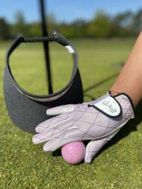 """Dames golfhandschoen """"Glove It"""" – (rechts) design Rose Gold Quilt"""