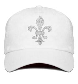 "Dames cap ""Titania"" wit - design lelie van Rhinestones kristallen"