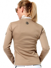 Dames sport jacket MDC Softshell - kleur Walnoot/Wit