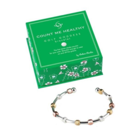 """Golf Goddess golf strokes zähler """"Chelsea Charles"""" - Silberne, gold und rotgold Charms"""