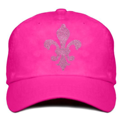 """Dames cap """"Titania"""" fuchsia roze - design lelie van Rhinestones kristallen"""