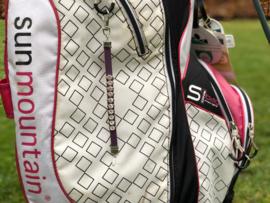 Golf Strokes Zahler aus Leder mit Kristallen  - Lila