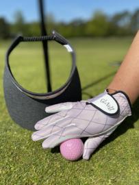 """Set dames handschoen (rechts) en zonneklep / visor """"Glove It""""– design Rose Gold Quilt"""
