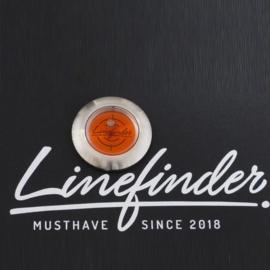 Linefinder - edelstaal met oranje