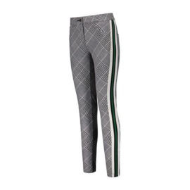 "Dames broek ""Par69"" Bucci Pant check print with stripe"