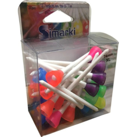 Golftees Simarki – wit mix (74 mm – xl) 30 stuks