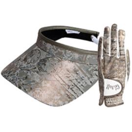 """Set dames golfhandschoen en zonneklep / visor """"Glove It"""" - design Vienna"""
