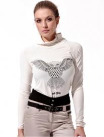 Dames sweater Meryl Print - lange mouw - kleur Creme