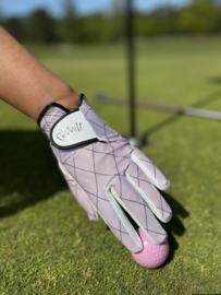 """Dames golfhandschoen """"Glove It"""" – (links) design Rose Gold Quilt"""