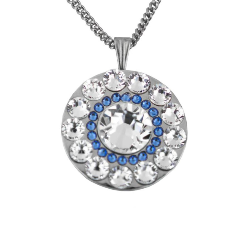 "Spyglass Hill Sapphire Blue Golf Ballmarker ""Girls Golf Bling"" - Silber / Blau. Ab €20.95 - €29.95"