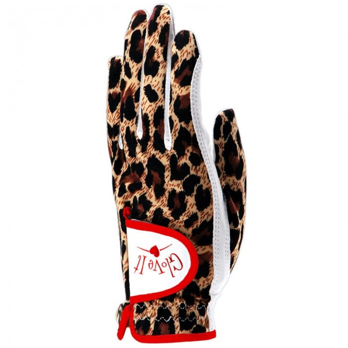 "Dames golfhandschoen ""Glove it"" - design Leopard"