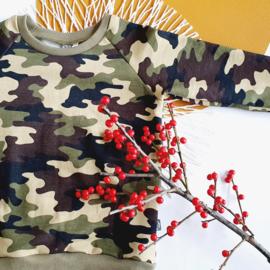Raglan sweater, camouflage sweat, maat 98