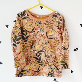 Shirt/sweater omgezoomd, met korte/lange mouw