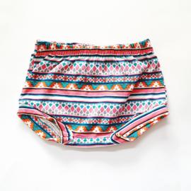 Shorts, Mexicaanse print, maat 68