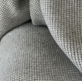 Lurex Grey gebreid met glitter