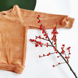 Raglan sweater, camel sponge, maat 98