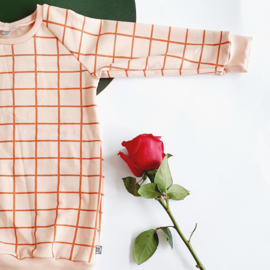 Sweaterdress, evening grid, maat 104