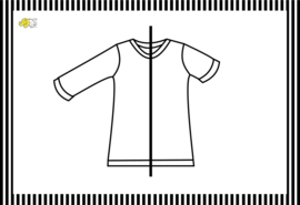Shirt omgezoomd, korte/lange mouw